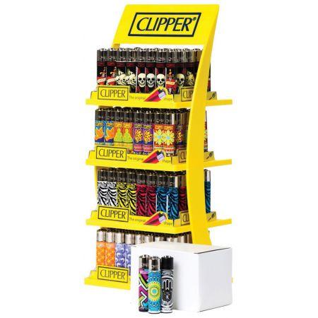 Clipper 4 Tier Lighter Stand 4 Assorted Designs CDU