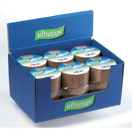 Ultratape 48mm x 50m Heavy Duty Brown Packaging Tape CDU