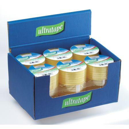 Ultratape 48mm x 50m Heavy Duty Clear Packaging Tape CDU