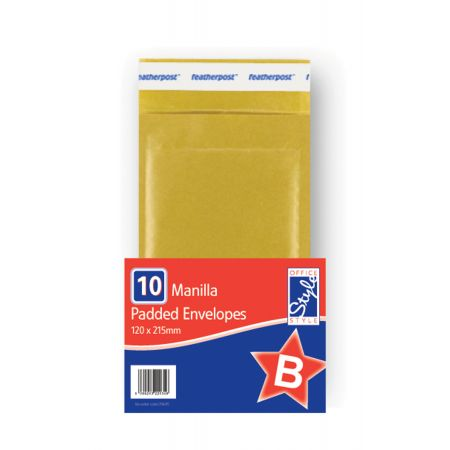 Office Style Padded Envelopes Gold B - 120 x 215mm