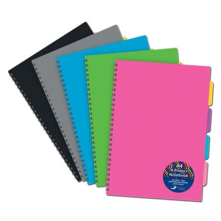 A4 Twinwire Project Notebook Asst