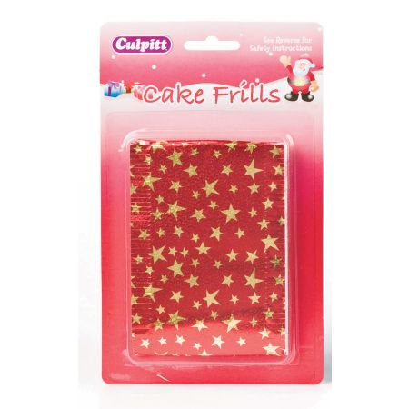 Metallic Cake Frill Hang Pack Assorted Designs