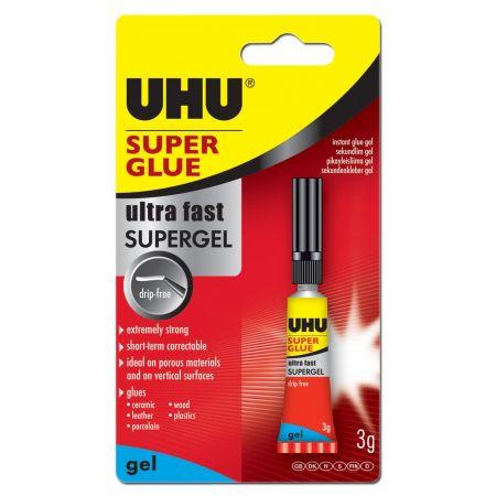 UHU 3g Super Glue Liquid Hang Pack