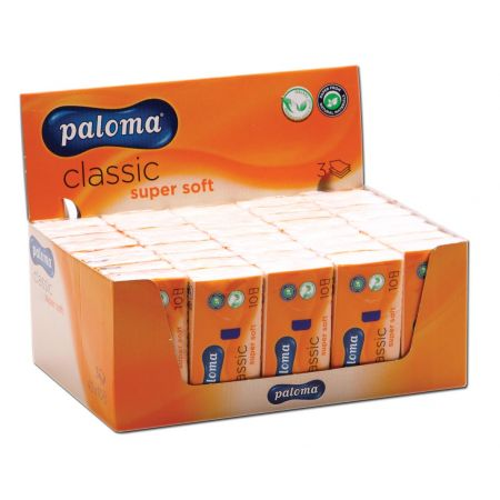 Paloma 3 Ply Pocket Tissues CDU