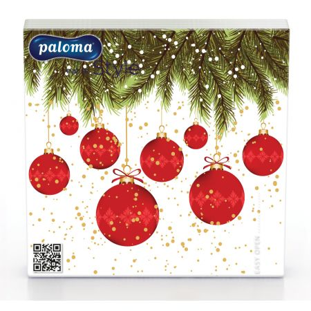 20 33cm x 33cm 3 Ply Christmas Napkins 3 Assorted Designs