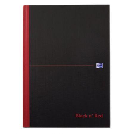 A4 Black & Red Single Cash Notebook