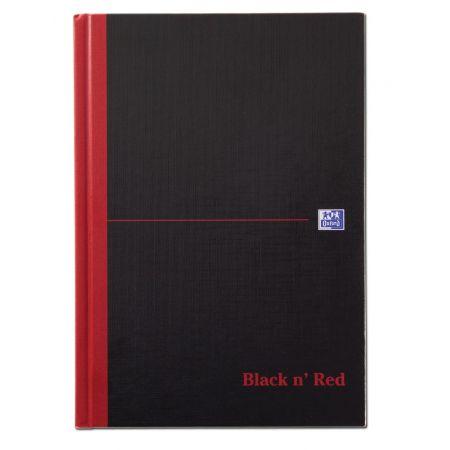 A5 Black & Red Single Cash Notebook