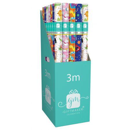 3m Gift Wrap Roll Children's Assortment CDU