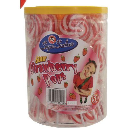 Sour Strawberry Lolly Tub
