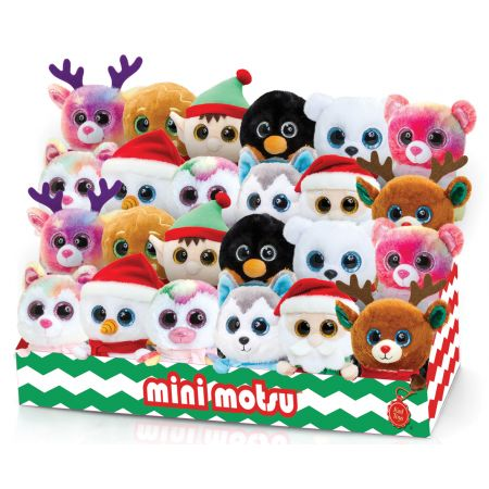 10cm Mini Motsu Christmas 12 Assorted Designs CDU
