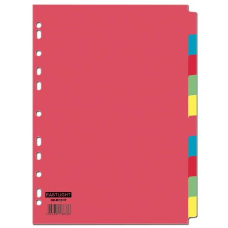 10 Part Card Subject Dividers A4