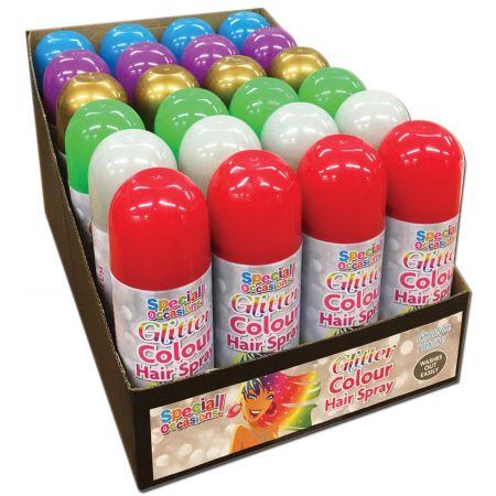 200ml Glitter Hair Spray Asst CDU