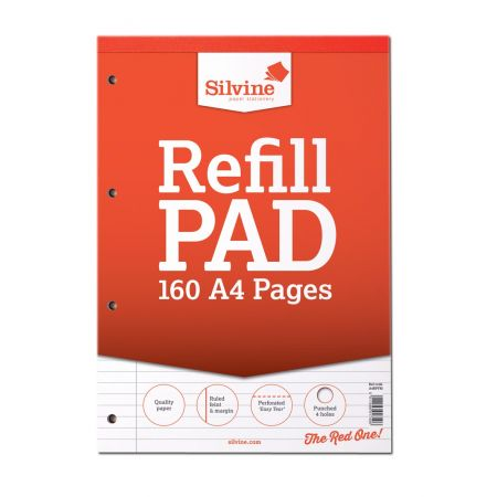 A4 Refill Pad 160 Pages FM Red