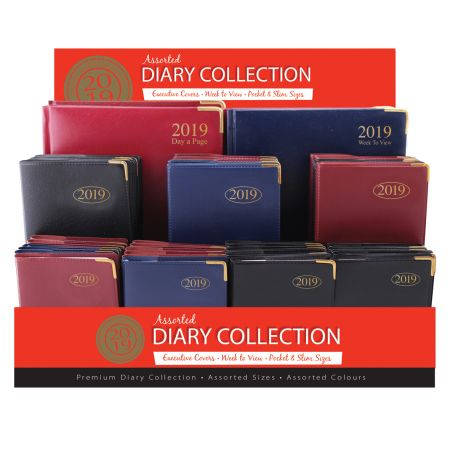 Diary Collection Assorted Colours CDU