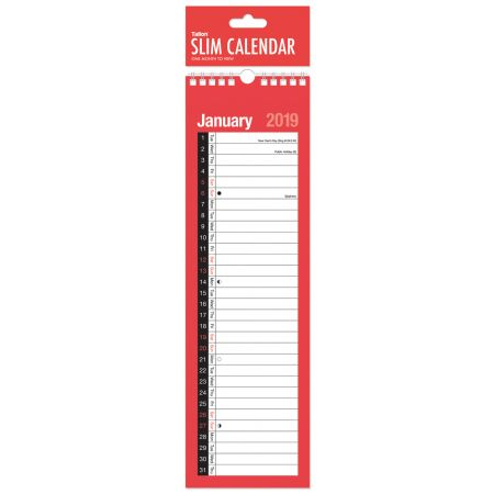 Month To View Slim Planner Calendar