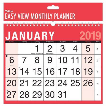 Month To View Easy View Planner Calendar