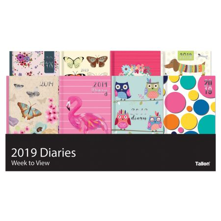 Slim WTV Fashion Diary 8 Assorted Designs CDU