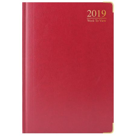 A4 Diary WTV Padded Gilt Edged