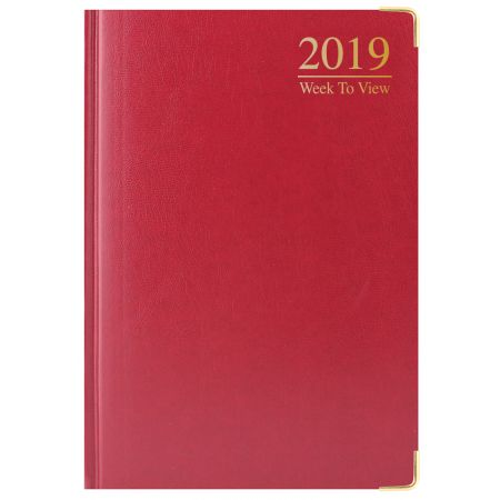 A5 Diary WTV Padded Cover Gilt Edged
