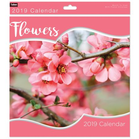 Square Calendar Floral Photographic