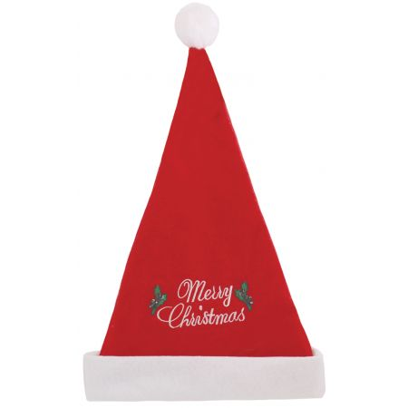 Felt Santa Hat with Christmas Slogan