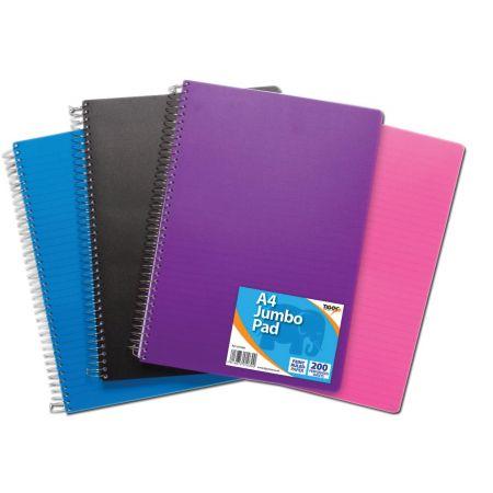 A4 Jumbo Polyprop Spiral Notebook