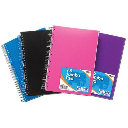 A5 Jumbo Polyprop Spiral Notebook