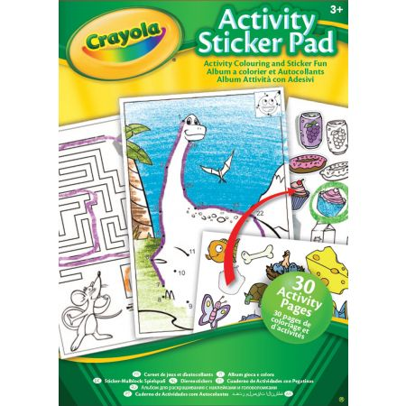 Crayola Activity Sticker Pad Book