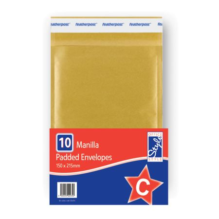 Office Style Padded Envelopes Gold C - 150 x 215mm
