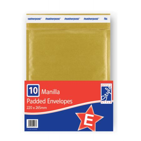 Office Style Padded Envelopes Gold E - 200 x 265mm