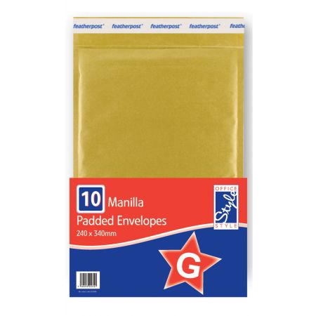 Office Style Padded Envelopes Gold G - 240 x 335mm