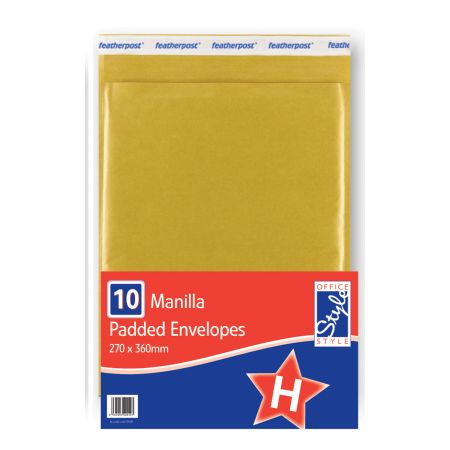 Office Style Padded Envelopes Gold H - 270 x 360mm