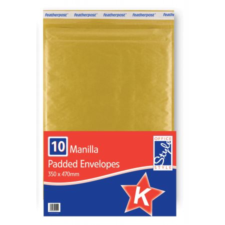Office Style Padded Envelopes Gold K - 350 x 470mm