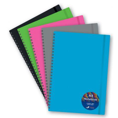 A4 T/W Polyprop Notebook Asst