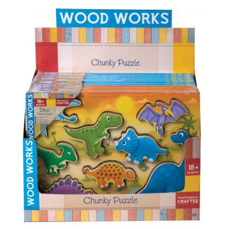 Dino & Vehicles Wood Puzzle CDU