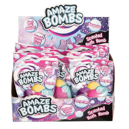 Amaze Bombs Small Scented Bath Bomb CDU