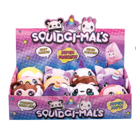 Squidgi-mals 8 Assorted Designs CDU