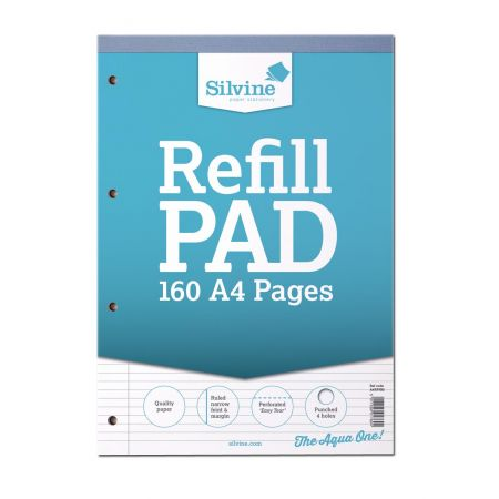 A4 Refill Pad 160 Pages NFM Lt Blue