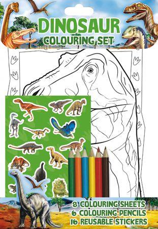 Dinosaur Colouring Set