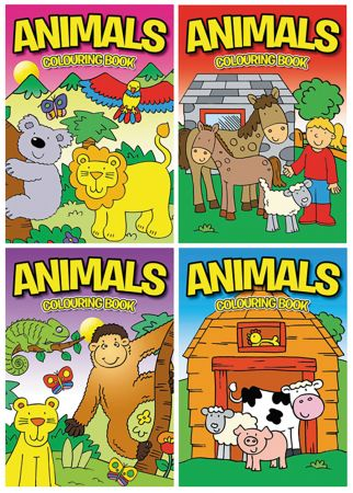 Animals Colouring Book 4 Titles