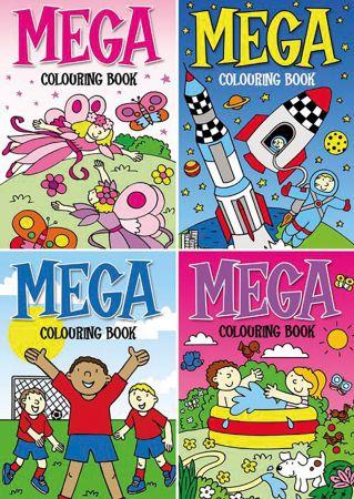 Mega Colouring Book 4 Titles