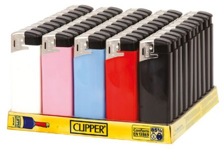 Clipper Lighter Classic Flint Assorted Colours Tray