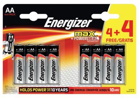 Energizer Max 4 + 4 Free AA CDU