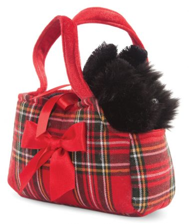 8in Fancy Pal Scottie In Tartan Bag