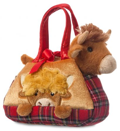 8in Hamish Highland Cow in Bag