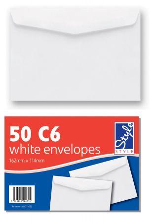 Style 50 C6 White Envelopes
