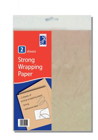 2 Sheets Brown Paper & String Hang
