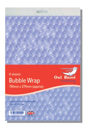 Owl Brand 4 Sheets Bubble Wrap Hang