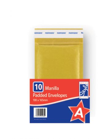 Office Style Padded Envelopes Gold A - 110 x 165mm
