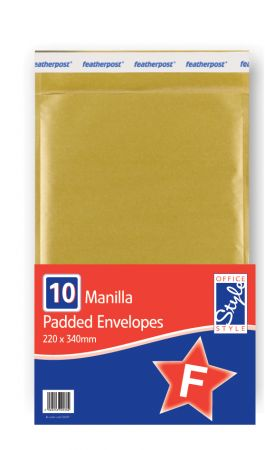 Office Style Padded Envelopes Gold F - 220 x 335mm